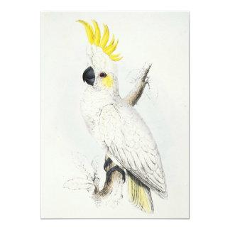 """Invitaciones con cresta amarillas del Cockatoo Invitación 5"""" X 7"""""""