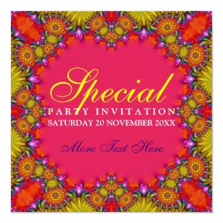 """Invitaciones con sabor a fruta tribales exóticas invitación 5.25"""" x 5.25"""""""