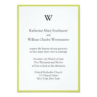 Invitaciones cones monograma del boda invitación 12,7 x 17,8 cm