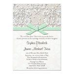 Invitaciones cones monograma del boda del cordón invitación 12,7 x 17,8 cm