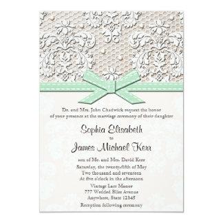 """Invitaciones cones monograma del boda del cordón invitación 5"""" x 7"""""""