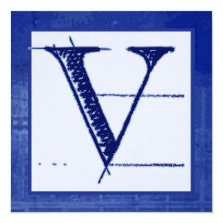 Invitaciones cones monograma del boda del modelo V Comunicados Personales