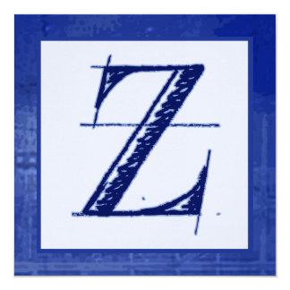 Invitaciones cones monograma del boda del modelo Z Comunicados
