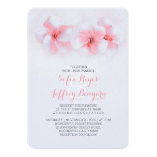 invitaciones coralinas de la flor del hibisco del invitación 12,7 x 17,8 cm