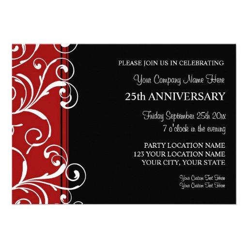 Invitaciones corporativas de la fiesta de aniversa anuncio