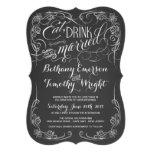Invitaciones cortadas con tintas boda de la pizarr comunicado personal