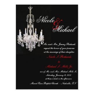 Invitaciones cristalinas de la lámpara invitación 13,9 x 19,0 cm