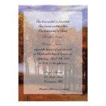 Invitaciones cristianas del boda de la caída de la anuncio personalizado