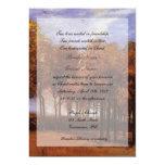 Invitaciones cristianas del boda de la caída de la invitación 12,7 x 17,8 cm