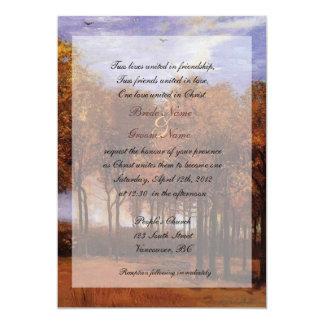 """Invitaciones cristianas del boda de la caída de la invitación 5"""" x 7"""""""
