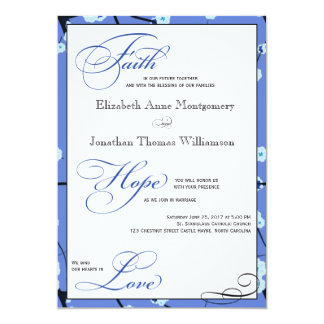 Invitaciones cristianas modernas del boda del invitación 12,7 x 17,8 cm
