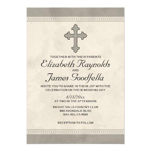 Invitaciones cruzadas del boda del hierro anuncios