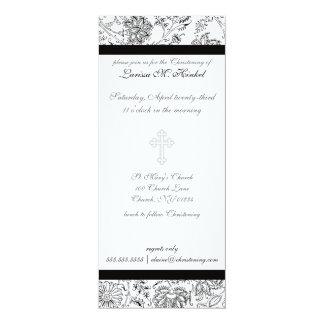 """Invitaciones cruzadas elegantes del bautizo invitación 4"""" x 9.25"""""""