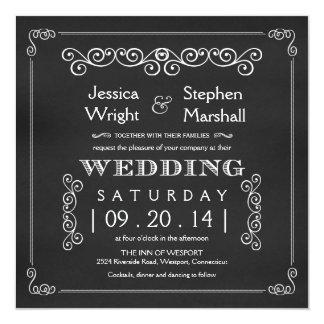 """Invitaciones cuadradas de lujo del boda de la invitación 5.25"""" x 5.25"""""""