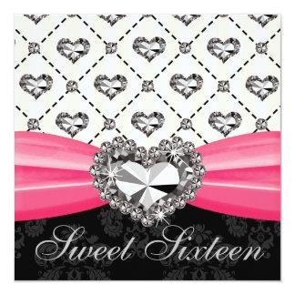 Invitaciones D del dulce dieciséis de las rosas Comunicado Personalizado