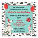 Invitaciones dálmatas de la fiesta de cumpleaños d comunicado