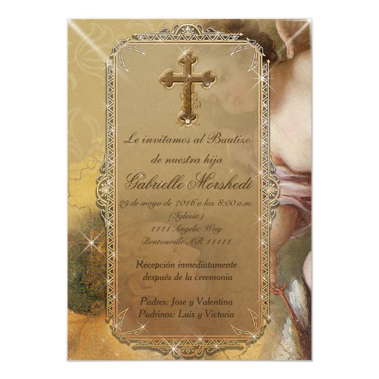 invitaciones de bautizo baptism invitations zazzle com