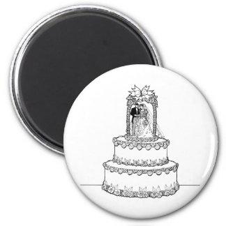 Invitaciones de boda 6 imán para frigorífico