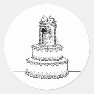 Invitaciones de boda 6 pegatinas redondas