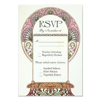 Invitaciones de boda coloridas de RSVP del vintage Invitación 8,9 X 12,7 Cm
