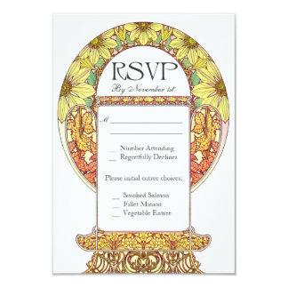 """Invitaciones de boda coloridas de RSVP del vintage Invitación 3.5"""" X 5"""""""