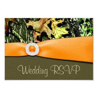 Invitaciones de boda de Camo RSVP de la caza Comunicados