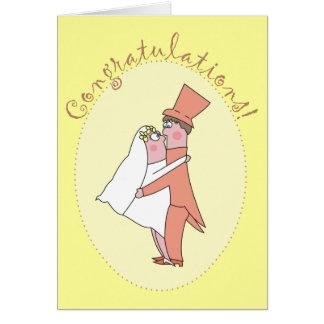 Invitaciones de boda de la enhorabuena de los reci tarjetas