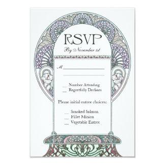 """Invitaciones de boda de Nouveau RSVP del arte del Invitación 3.5"""" X 5"""""""