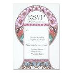 Invitaciones de boda de RSVP del vintage de Anuncios Personalizados