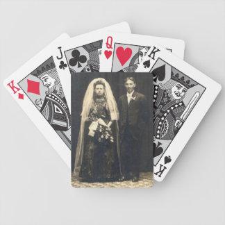 Invitaciones de boda del gótico baraja cartas de poker