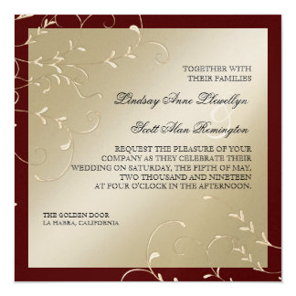 """Invitaciones de boda del vino de Champán de la Invitación 5.25"""" X 5.25"""""""