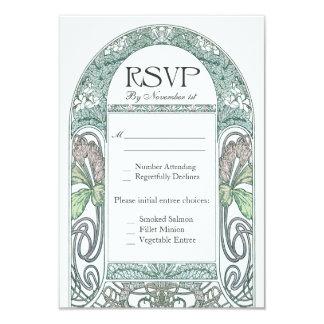 """Invitaciones de boda florales de RSVP del vintage Invitación 3.5"""" X 5"""""""