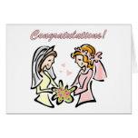 Invitaciones de boda lesbianas - interior del espa felicitacion