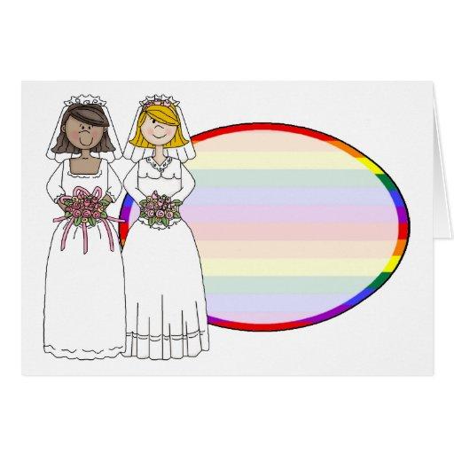 Invitaciones de boda temáticas gay adaptables, peg tarjeta de felicitación