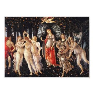 """Invitaciones de Botticelli Primavera Invitación 5"""" X 7"""""""