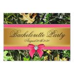 Invitaciones de búsqueda rosadas del fiesta de invitacion personalizada