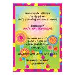 Invitaciones de Candyland: Rosa Anuncios