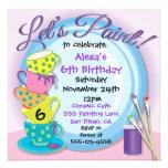 Invitaciones de cerámica del fiesta de la pintura  anuncios