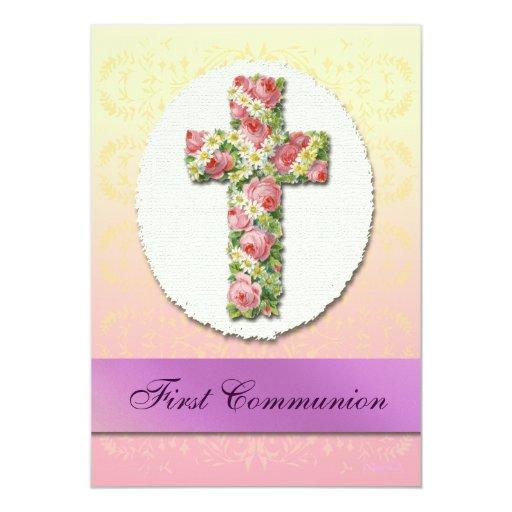Invitaciones de encargo cruzadas florales de la invitación personalizada
