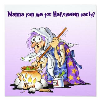 """Invitaciones de encargo de Halloween de la lila - Invitación 5.25"""" X 5.25"""""""