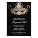 Invitaciones de encargo de la bola de mascarada comunicado personal