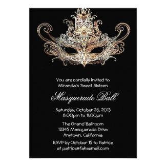 Invitaciones de encargo de la bola de mascarada de