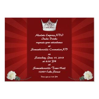 """Invitaciones de encargo de la coronación de la invitación 5"""" x 7"""""""