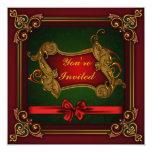 Invitaciones de encargo de la fiesta de Navidad Comunicados Personalizados