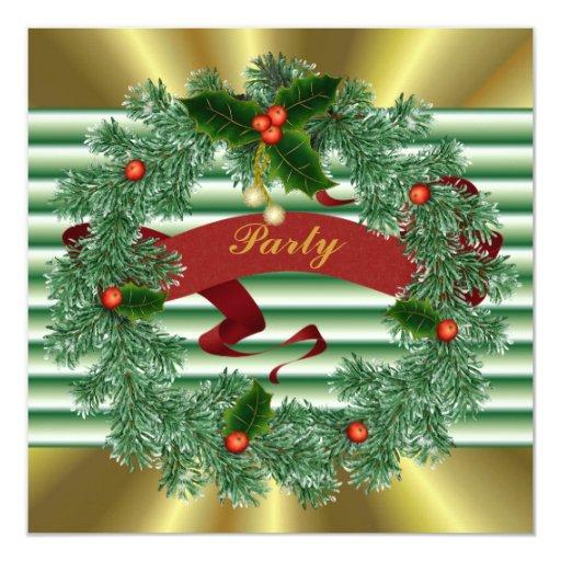 Invitaciones de encargo de la fiesta de Navidad Anuncio Personalizado