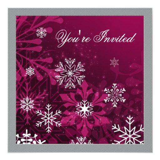 """Invitaciones de encargo de la fiesta de Navidad Invitación 5.25"""" X 5.25"""""""