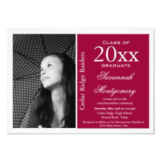 """Invitaciones de encargo de la graduación de la invitación 4.5"""" x 6.25"""""""