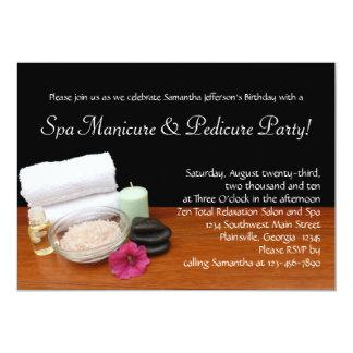 Invitaciones de encargo de la manicura del invitacion personalizada