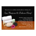 Invitaciones de encargo de la manicura del balnear invitacion personalizada