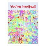 Invitaciones de encargo de la plantilla del invitación 12,7 x 17,8 cm